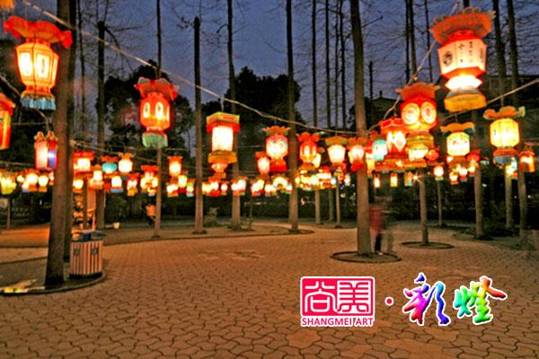 2015年12月5日德阳华府小区定制喜庆宫灯